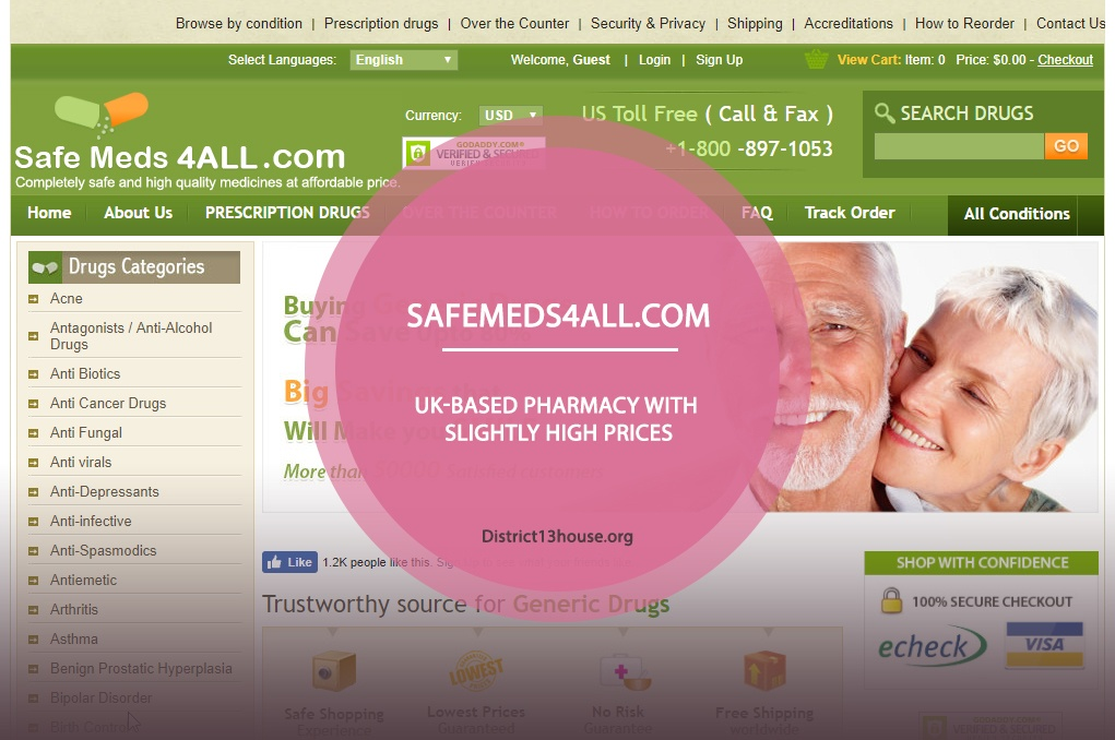 Safemeds4all.Com Review – UK-Based Pharmacy with Slightly High Prices