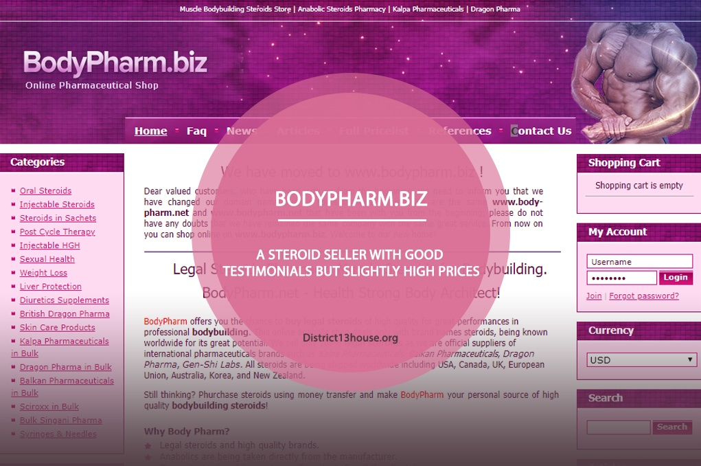 Bodypharm.biz Review – A Steroid Seller with Good Testimonials but Slightly High Prices