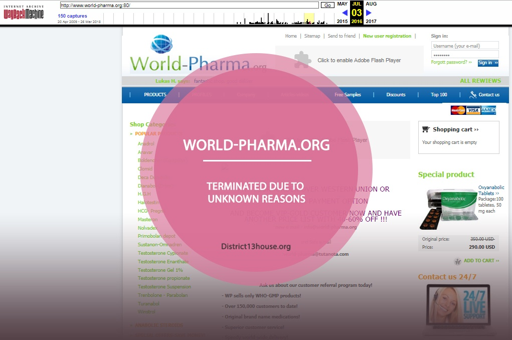 World-pharma.org Review – Terminated Due to Unknown Reasons