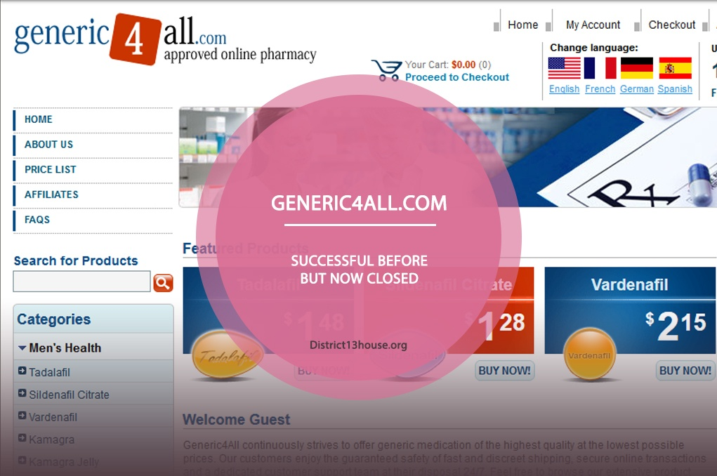 Generic4all.com Review – Successful Before but now Closed