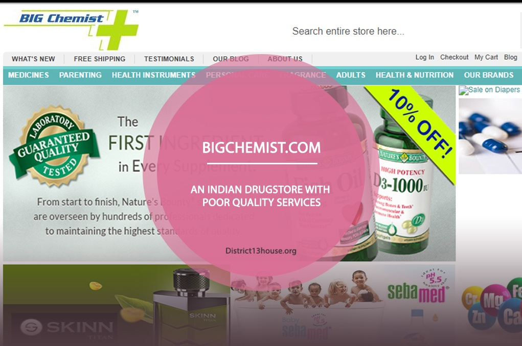 Bigchemist.com Review – An Indian Drugstore with Poor Quality Services