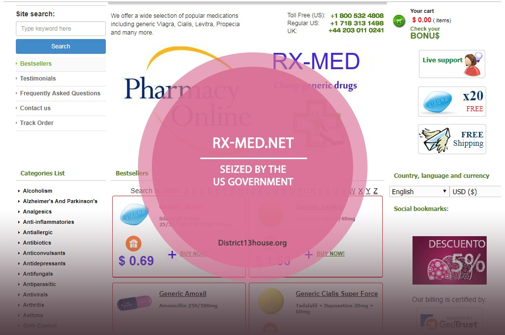Rx-med.net Review – Seized by the US Government