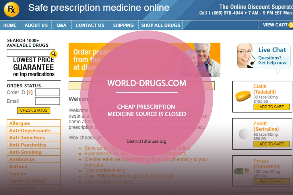 World-drugs.com Review – Cheap Prescription Medicine Source Is Closed