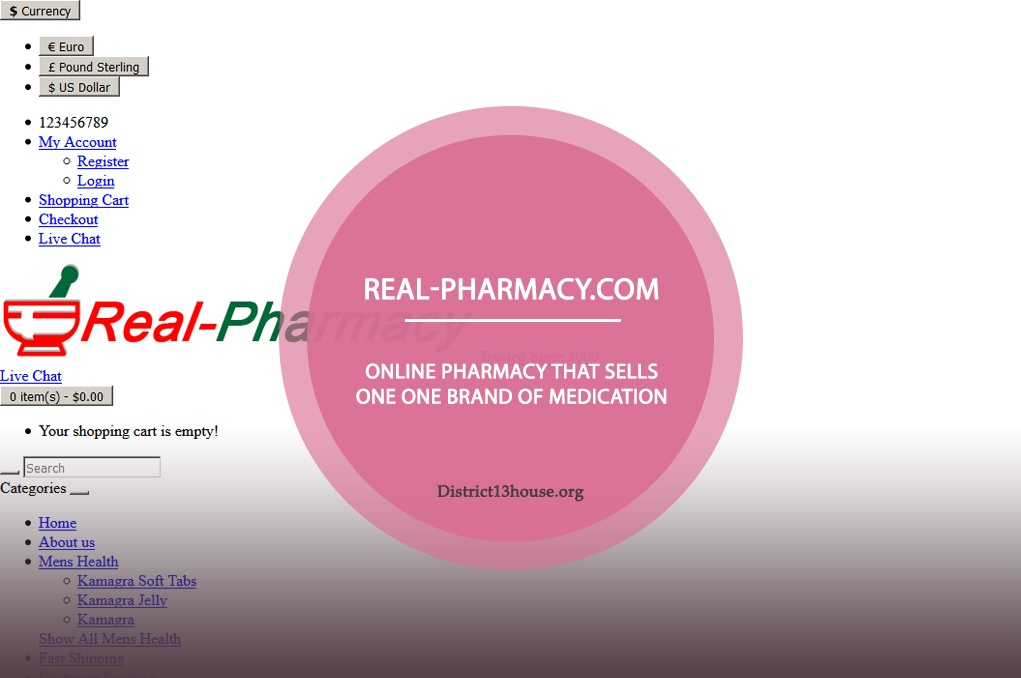 Real-pharmacy.com Review - Online Pharmacy that Sells One One Brand of Medication