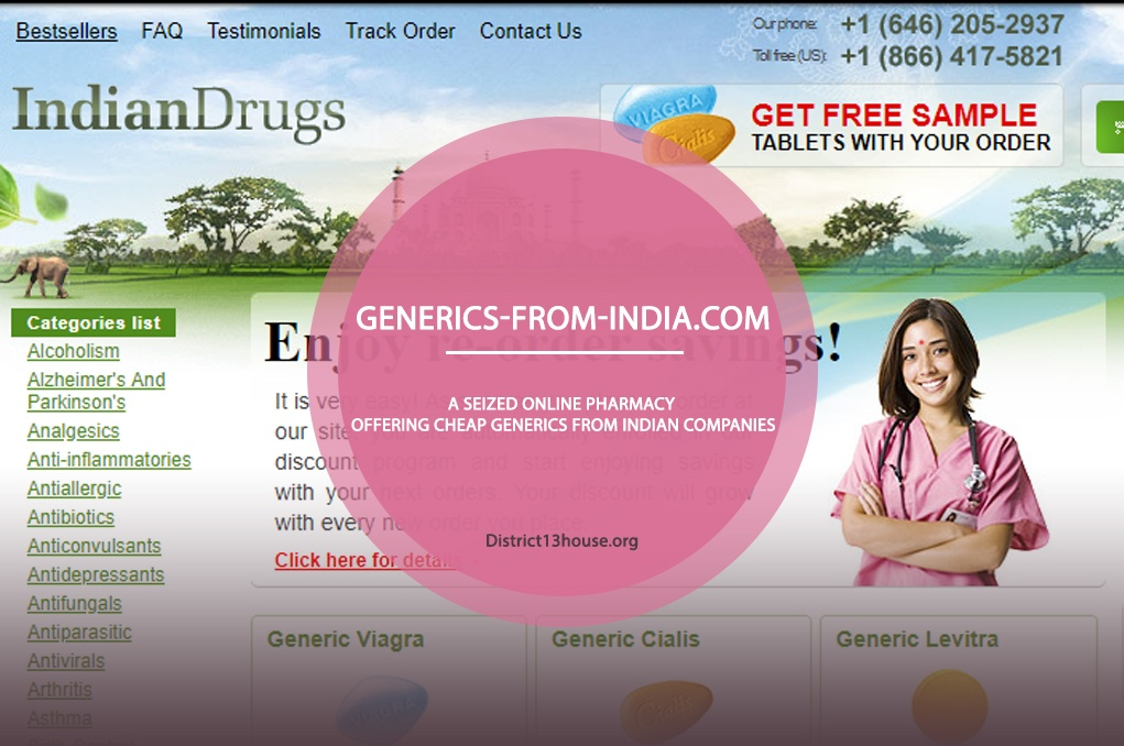 Generics-From-India.Com Review – A Seized Online Pharmacy Offering Cheap Generics from Indian Companies