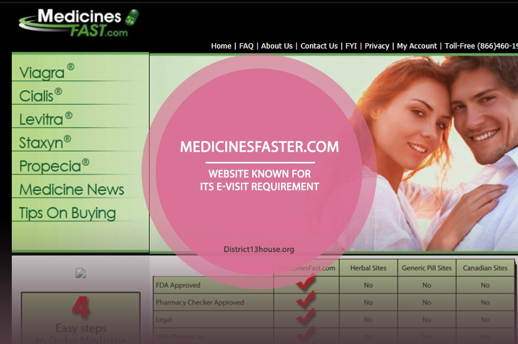 Medicinesfaster.com Review - Website Known for Its E-visit Requirement