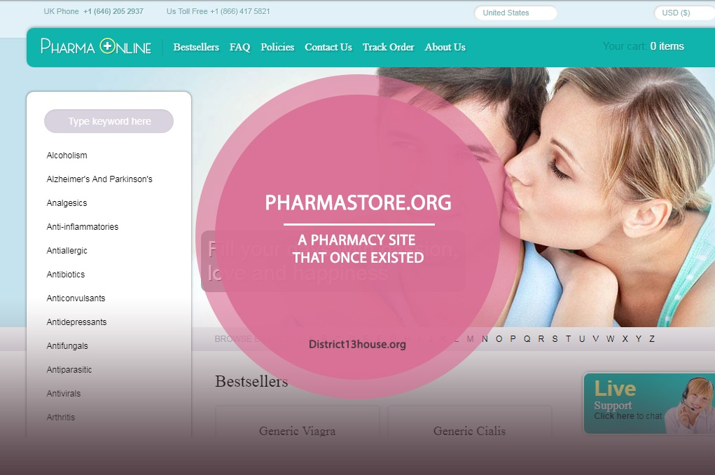 Pharmastore.org Review – A Pharmacy Site that Once Existed