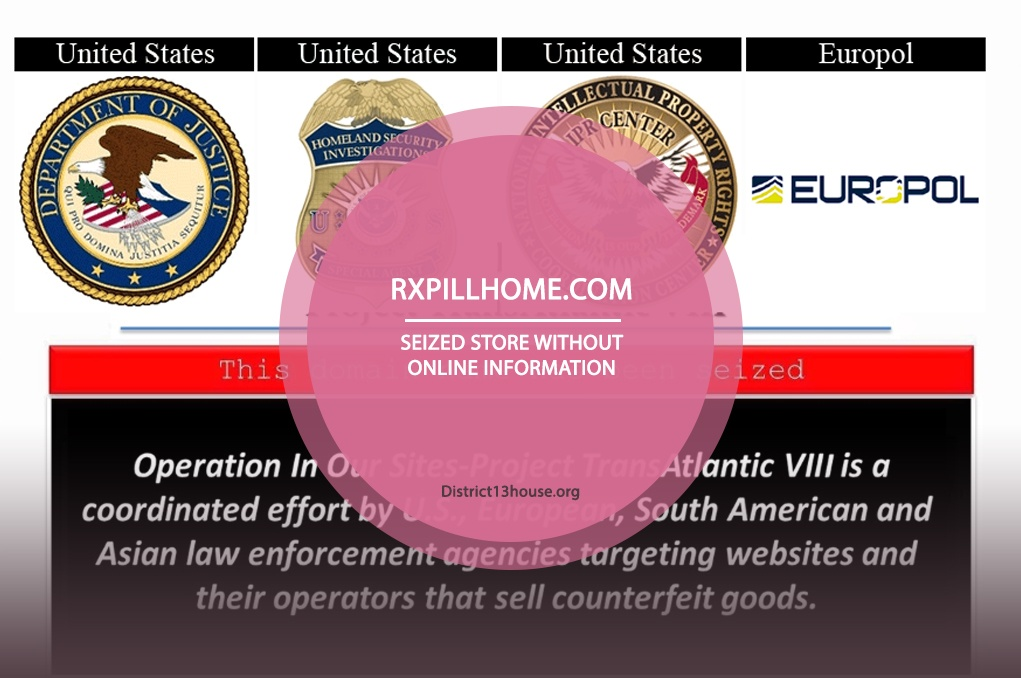 Rxpillhome.com Review – Seized Store without Online Information