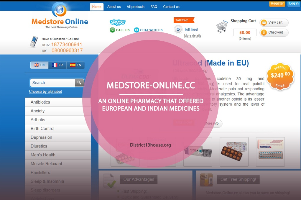 Medstore-online.cc Review - An Online Pharmacy That Offered European and Indian Medicines