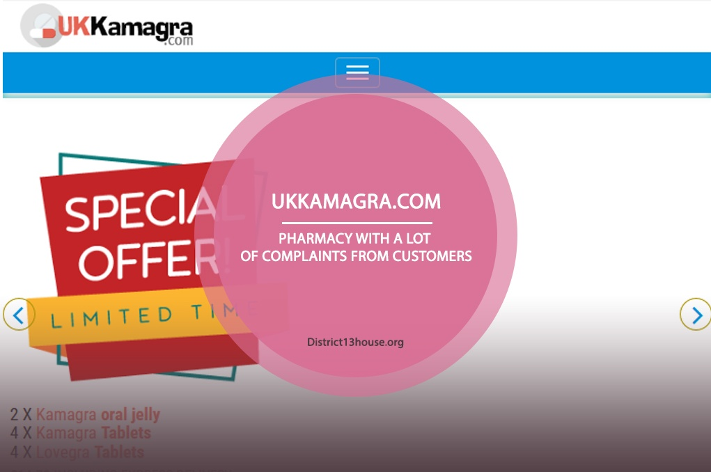 Ukkamagra.com Review - Pharmacy with a Lot of Complaints from Customers