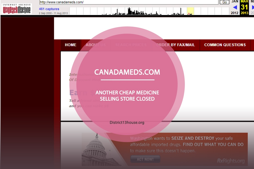 Canadameds.com Review – Another Cheap Medicine Selling Store Closed